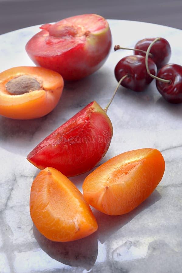 Stone fruits royalty free stock photography