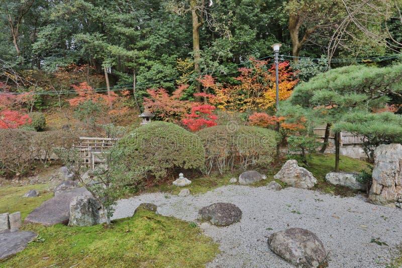The stone garden in Konkai Komyoji Temple. Fall in Konkai Komyoji Temple position Residents royalty free stock photo