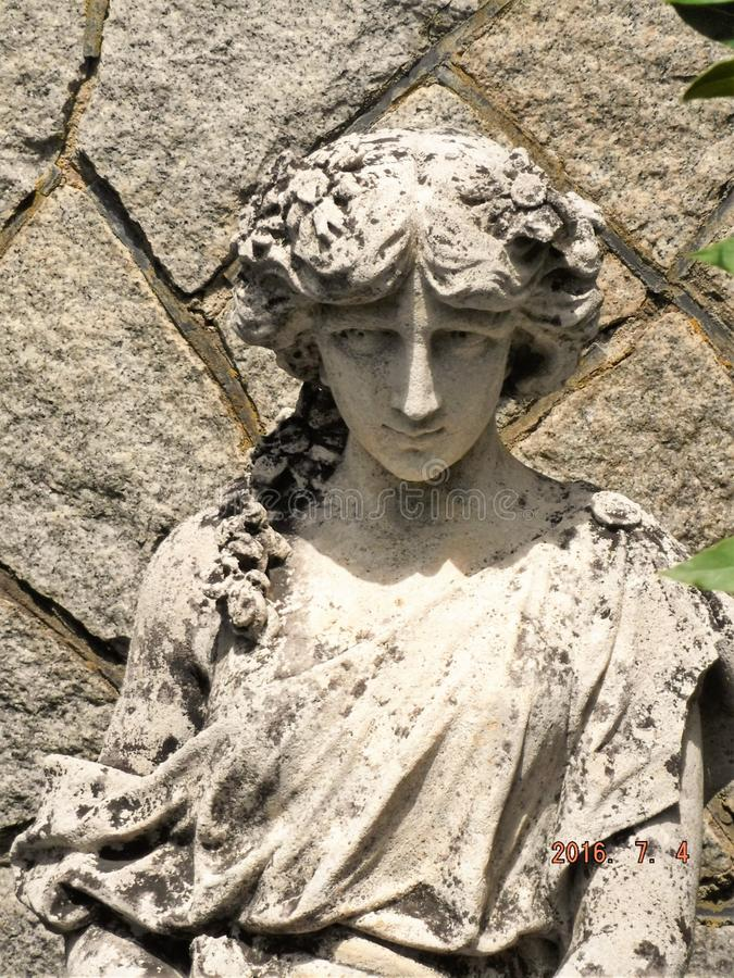 Stone Godess royalty free stock photos