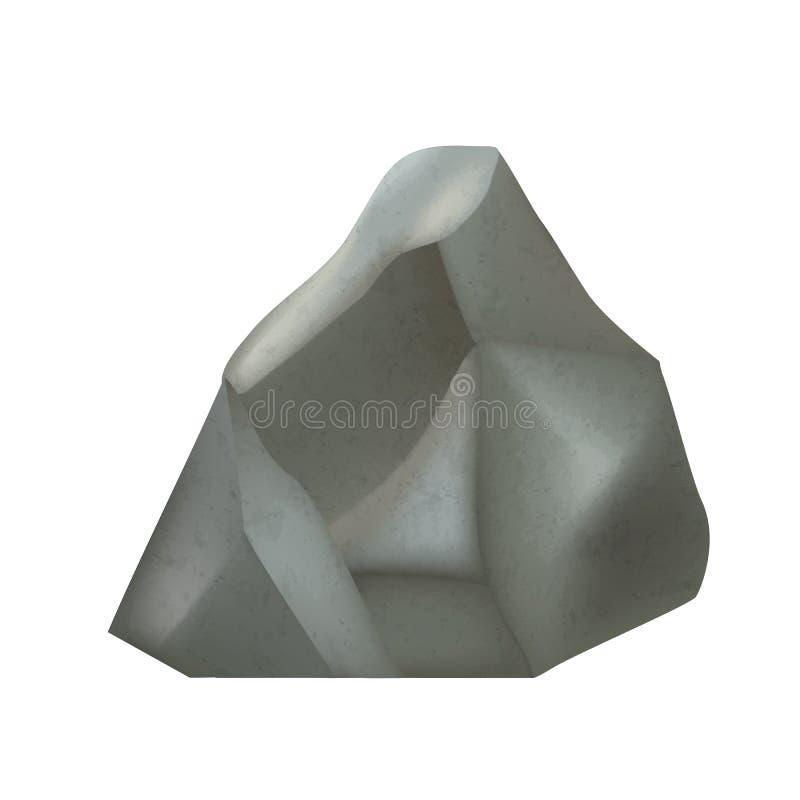 Stone Gravel Decorative Rock Build Stuff Vector vektor illustrationer