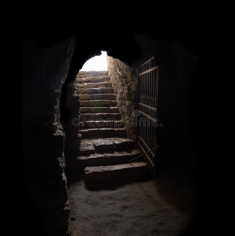 100 Best Corridors Stairs Lighting Images By John: Stone Hallway With Upward Staircase Stock Photo