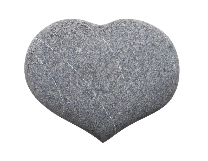 Stone heart royalty free stock image