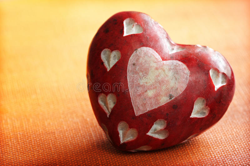 Download Stone heart stock image. Image of orange, heart, photography - 25286929