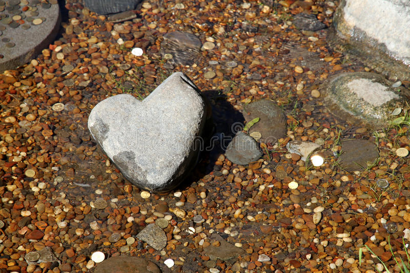Download Stone Heart In A Stream.  Japanese Garden. Stock Image - Image of concept, beauty: 30853165