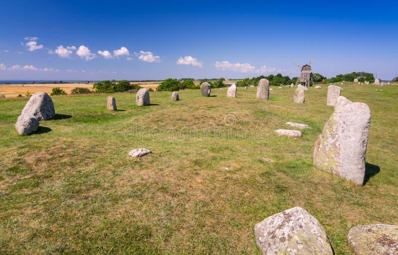 Stone henge on Oland island stock images