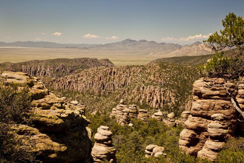 Stone Hoodoos at Chiricahua National Monument stock photo