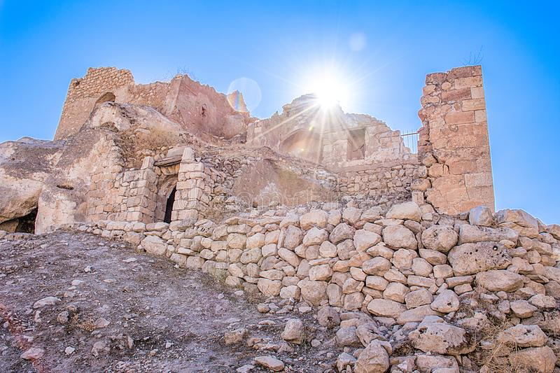 Stone house of ancient city remains royalty free stock photography