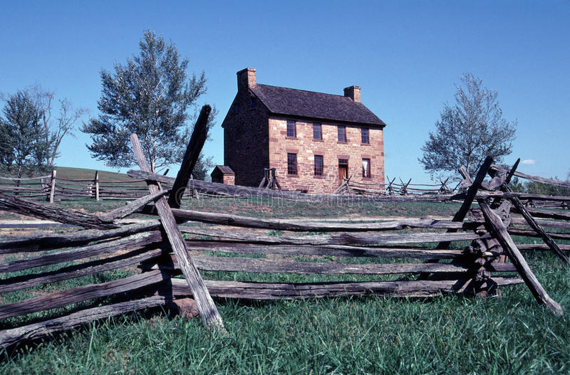 The Stone House, Manassas National Battlefield. Image shows the historic Stone House in the Battlefield Park in Prince William County, Virginia. It achieved its stock image