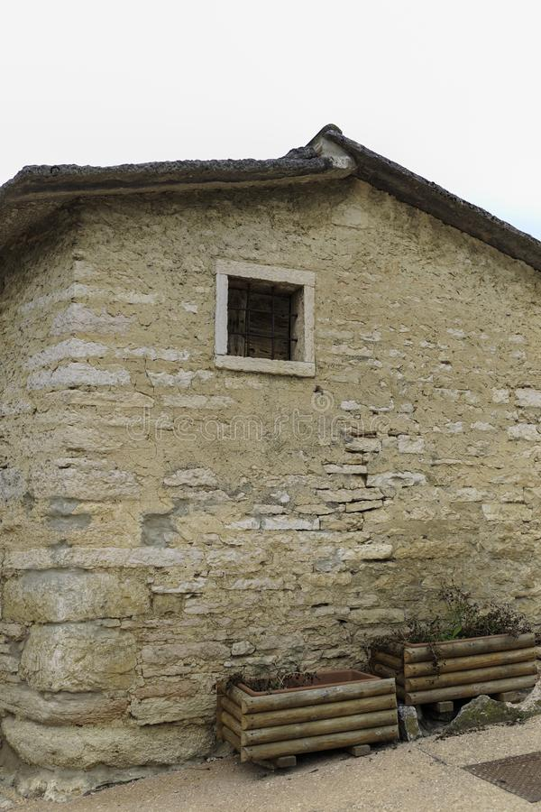 Stone house in the mountain italian houses royalty free stock image