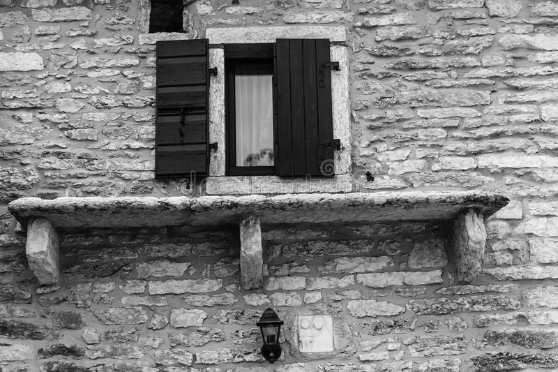 Stone house in the mountain italian houses royalty free stock images