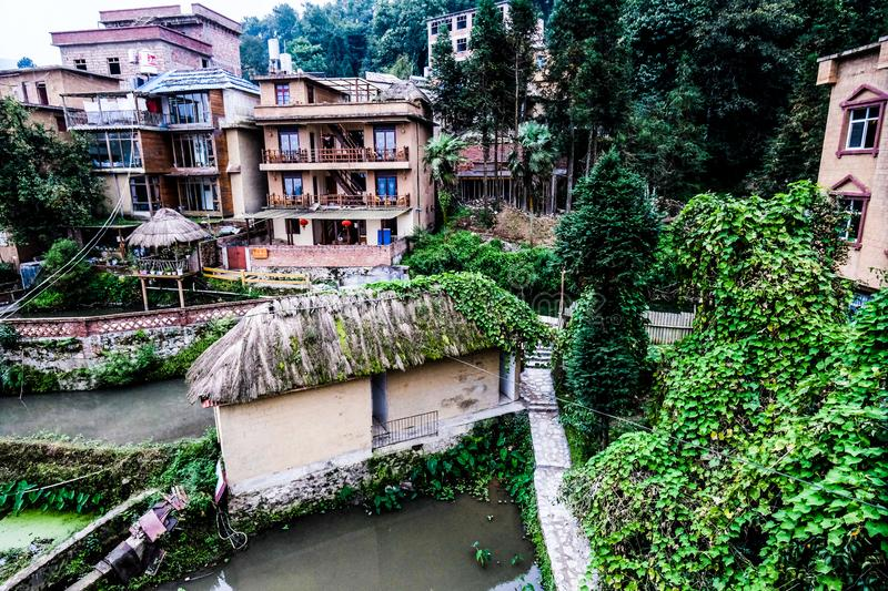 Stone houses in Agriculture village China. Stone houses in Agriculture village Style of in northern China royalty free stock images