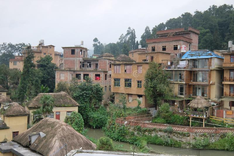 Stone houses in Agriculture village China. Stone houses in Agriculture village Style of in northern China royalty free stock photos