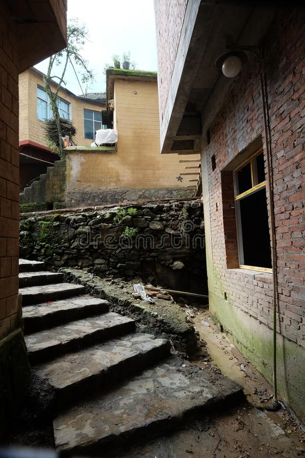 Stone houses in Agriculture village China. Stone houses in Agriculture village Style of in northern China royalty free stock image