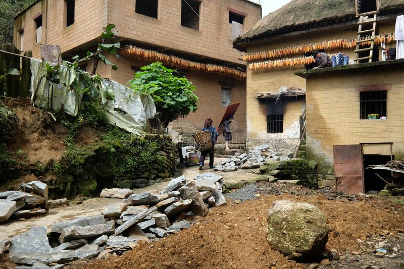 Stone houses in Agriculture village China. Stone houses in Agriculture village Style of in northern China stock image