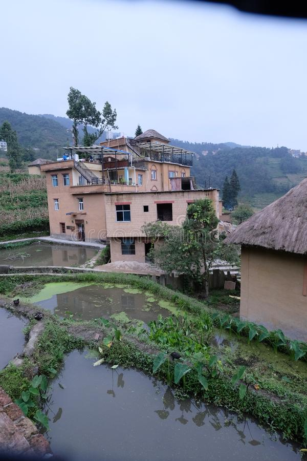 Stone houses in Agriculture village China. Stone houses in Agriculture village Style of in northern China stock photos