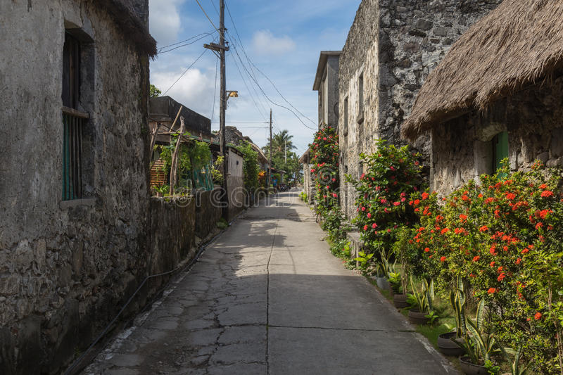 Stone houses of Batanes stock photography