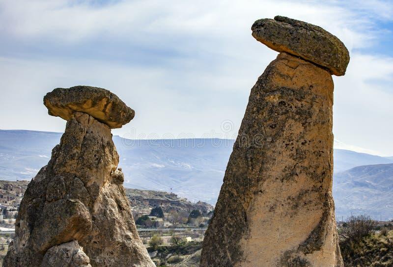 Stone houses of Cappadocia stock image