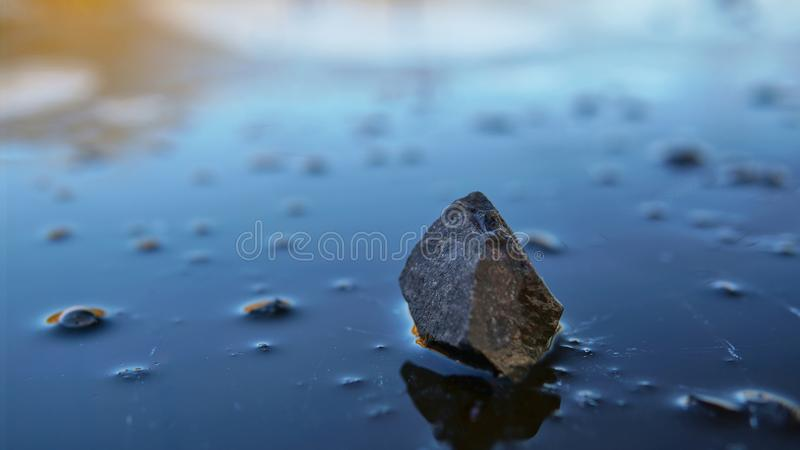 Download Stone Upon Ice, Mid Winter 1 Stock Image - Image of bubbles, water: 104419311