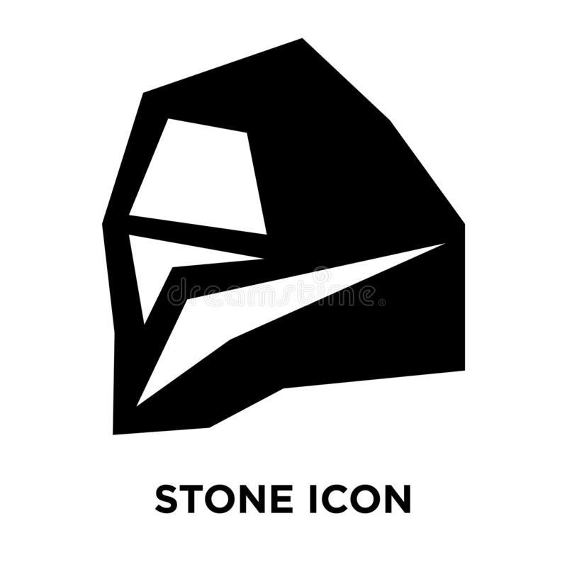 Stone icon vector isolated on white background, logo concept of stock illustration