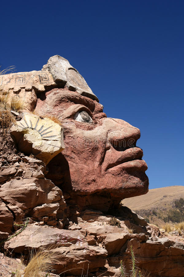 Download Stone Inca face stock image. Image of puno, carve, stone - 24549295