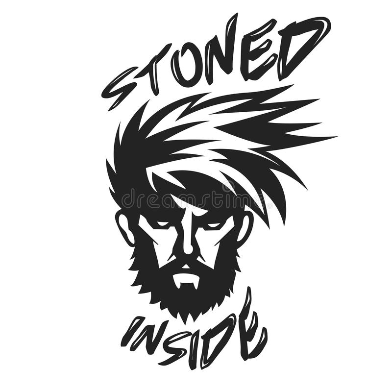 Stone Inside cool design of man stock illustration