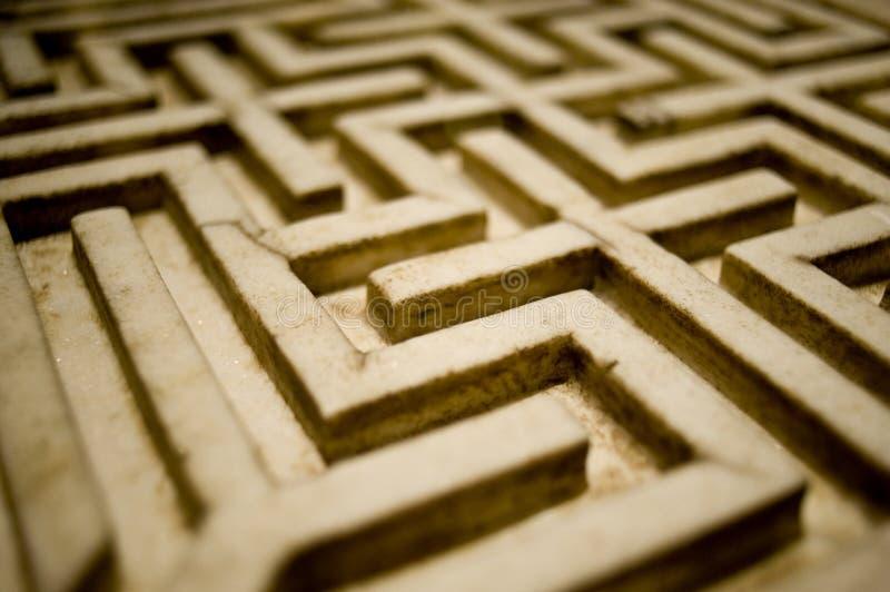 Stone labyrinth stock photography