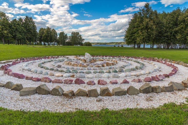 Stone labyrinth royalty free stock photos