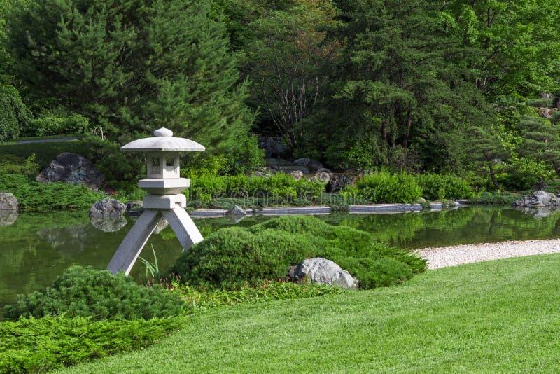 Download Stone Lantern In A Japanese Garden Stock Photo - Image: 33515096