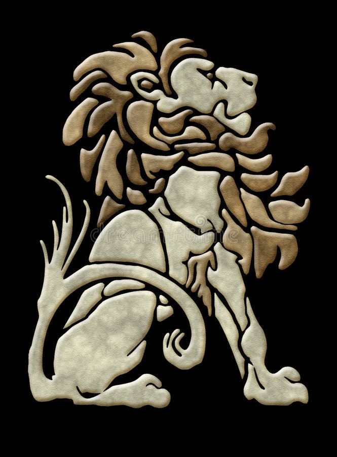 Download Stone Lion Architectural Motif Stock Illustration - Image: 2652805