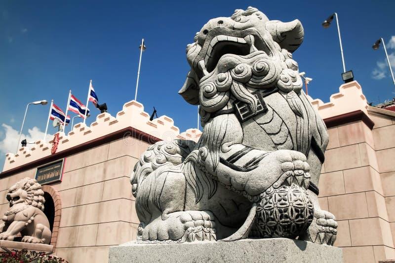 Stone lion stock photography