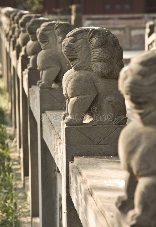 Stone Lions stock images