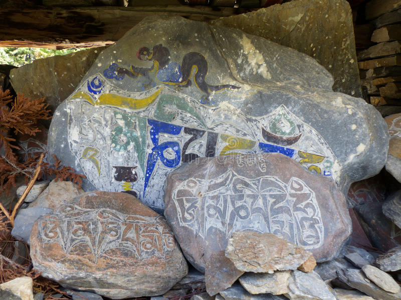 Stone mantra royalty free stock images