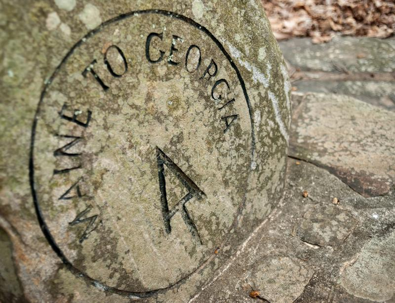 AT Stone Marker royalty free stock image