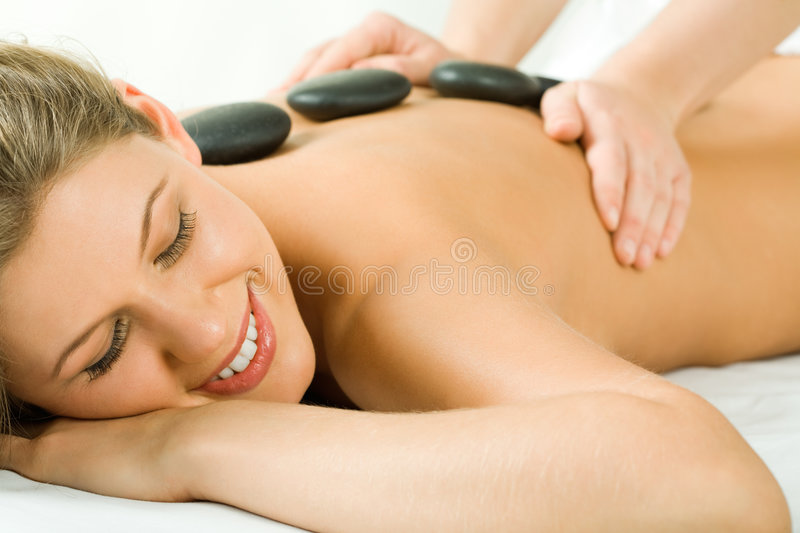 Stone massage royalty free stock images