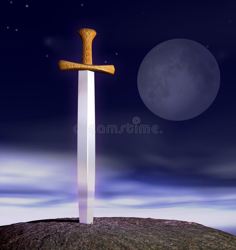 stone miecz ilustracja wektor