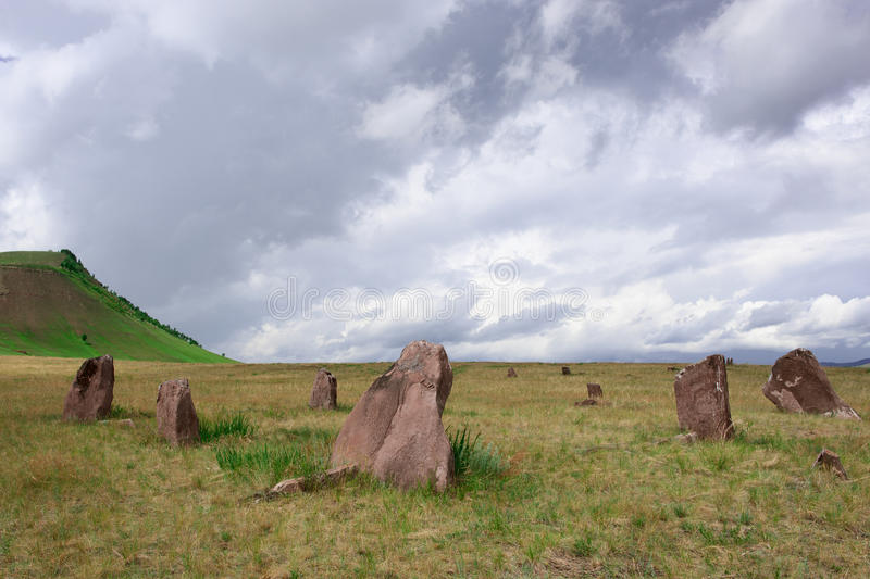 Download Stone Monolitos In The Field Stock Photo - Image: 27782090