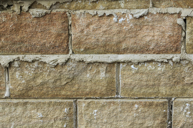Stone and mortar walling close-up. Shot, background and texture use royalty free stock images