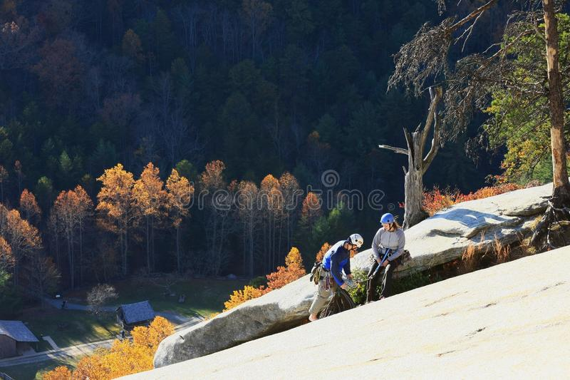 Stone Mountain State Park Climbers royalty free stock images