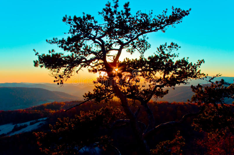 Stone Mountain State Park Sunset stock photography