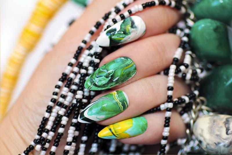 Stone nail design. stock photo. Image of beautiful, luxurious - 92514906