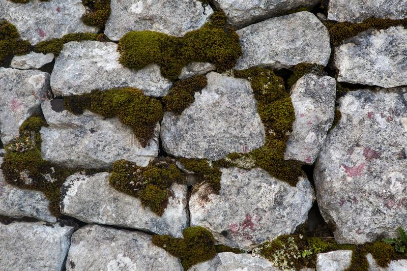 Stone old castle wall royalty free stock image