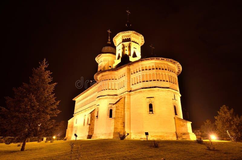 Stone orthodox monastery stock photo
