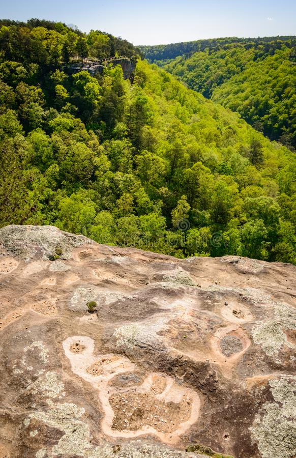 Stone Overlook at Little River Canyon National Preserve royalty free stock images