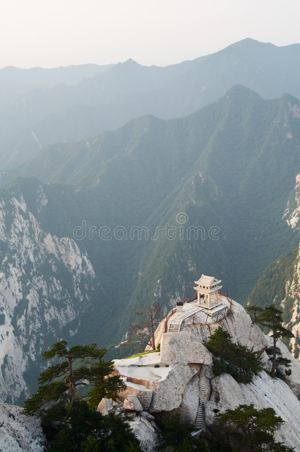Free Stone Pagoda In The Mountains Stock Image - 5861241