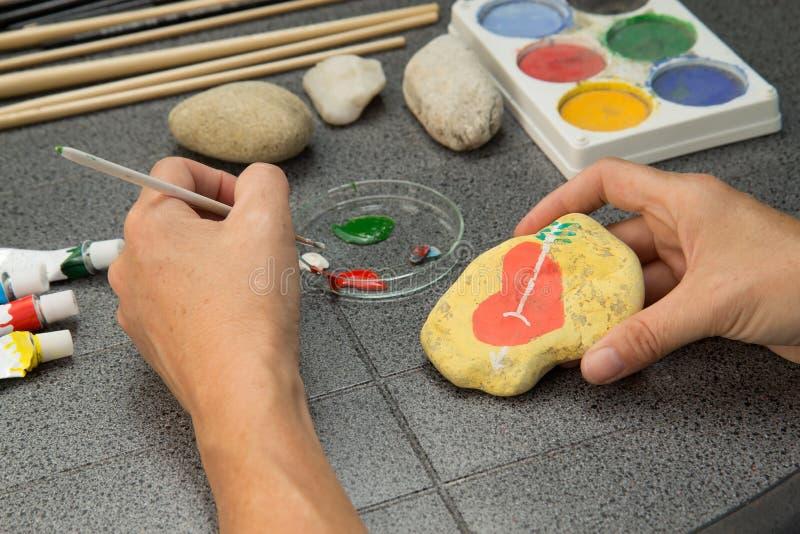 Stone painting royalty free stock image