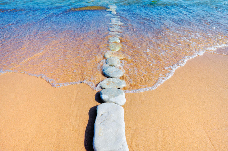 Download Stone Path stock image. Image of sandy, wave, nature - 23637733