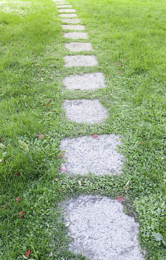 Stone path in a zen garden royalty free stock image