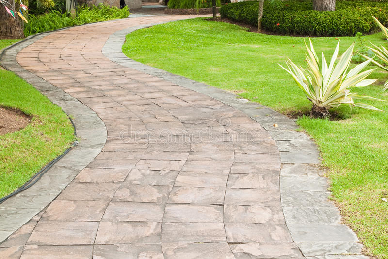 Stone pathway stock photography