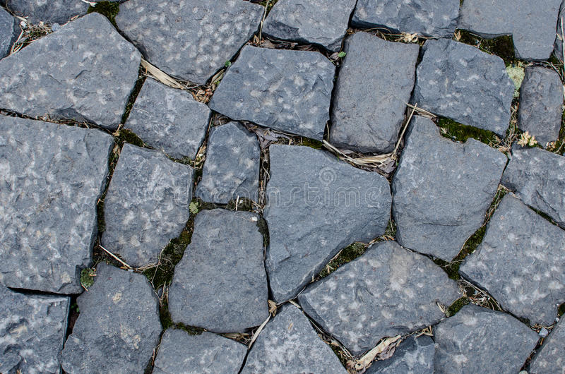 Stone pattern floor. Granite stone shape pattern floor royalty free stock photography