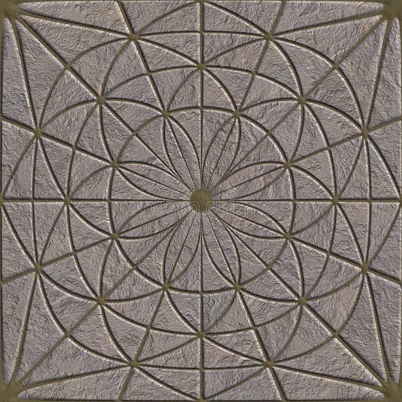Stone pavement. Seamless pattern vector illustration